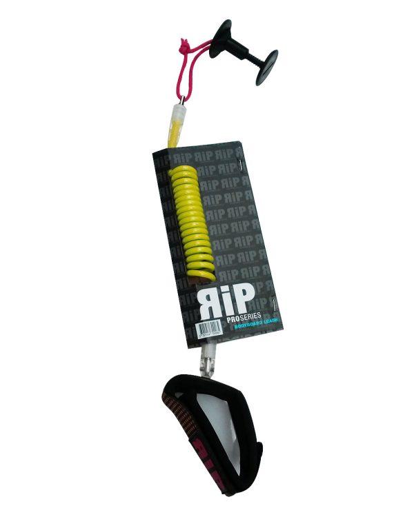 RIP leash bodyboard poignet jaune