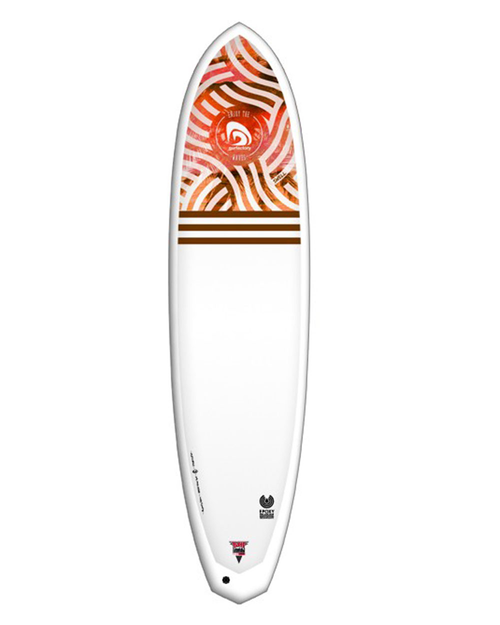 SURFACTORY Funboard 7'2 Swell orange