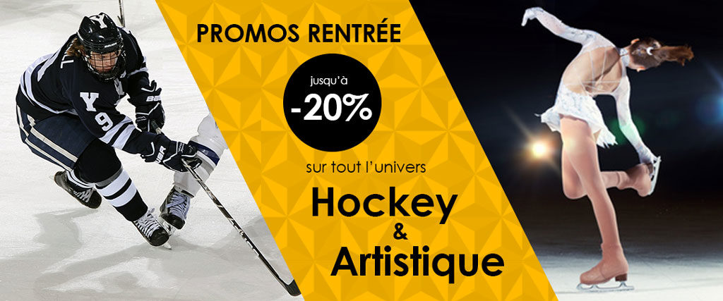 Promo rentée jusqu'à -20% sur tout l'univers Hockey et Artisti