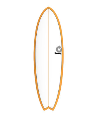 "TORQ Fish 5'11"" blanche / orange pinline"