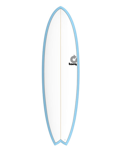 TORQ Fish 6'6 blanc bleu pinline