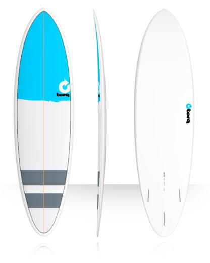 TORQ Fun 6'8 blanc / bleu