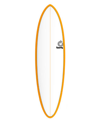 TORQ Fun 6'8 blanc orange pinline