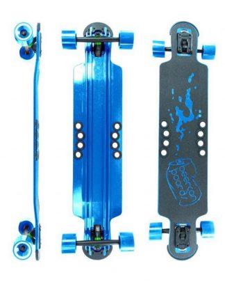 Skate hoke longboard 38'' BEERCAN - Bleu