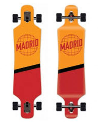 longboard MADRID spade drop thru 39 world orange red