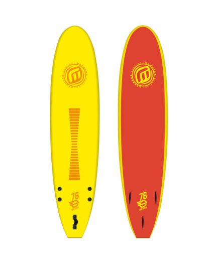 "Planche surf mousse EPS MADNESS Jaune 7'6"""