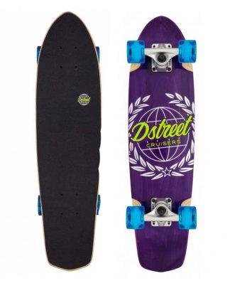 "Skate cruiser D STREET atlas 28"" x 7.25"" purple"