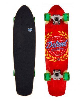 """Skate cruiser D STREET atlas 28"""" x 7.25"""" red"""