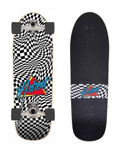 "Surfskate check warp D STREET 32"" x 10"" - multi"