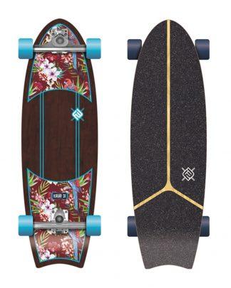 """Surfskate kauai Flying wheels 31"""" - parrot"""